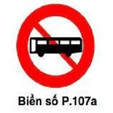 biển báo cấm 107a