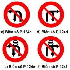 biển báo cấm 124 cdef