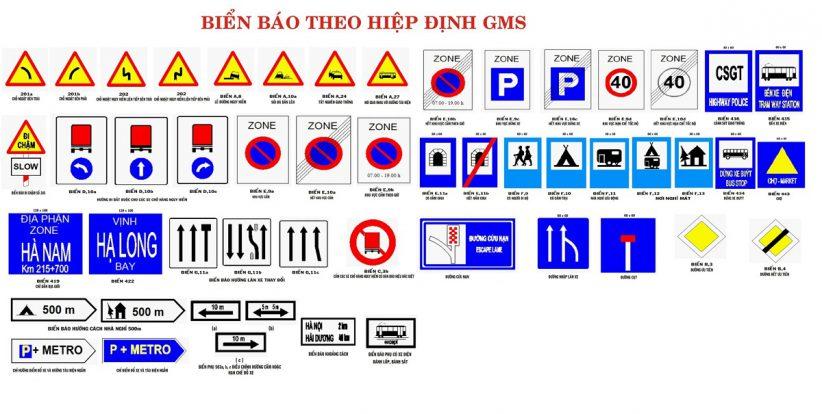 các biển báo giao thông đường bộ biển theo hiệm định GMS