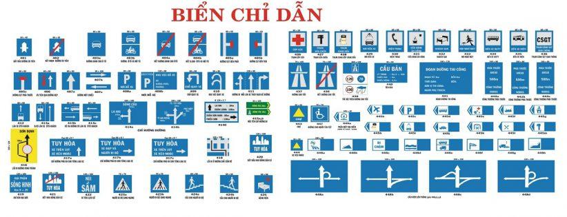 các biển báo giao thông đường bộ biển chỉ dẫn