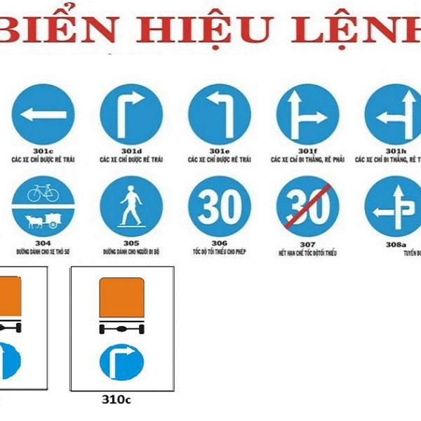 các biển báo giao thông đường bộ biển hiệu lệnh