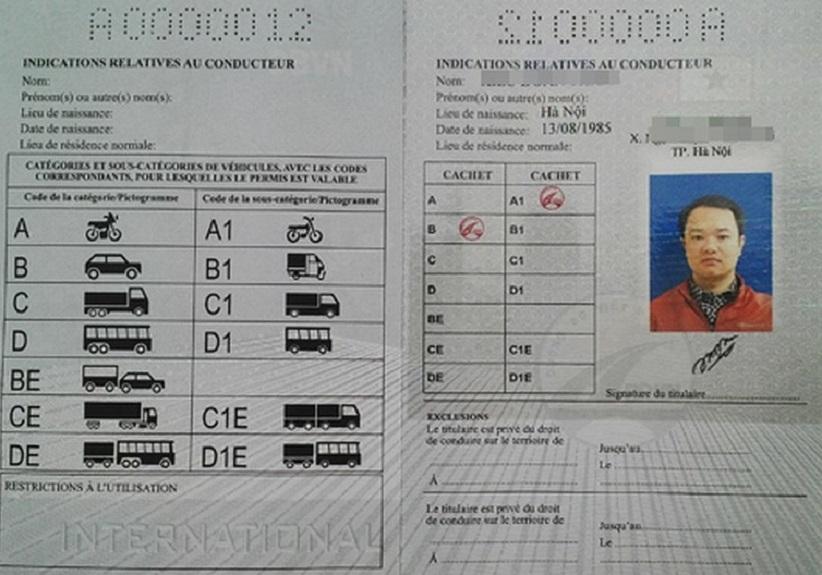 đổi bằng lái xe quốc tế IDP Việt Nam cấp hình 1